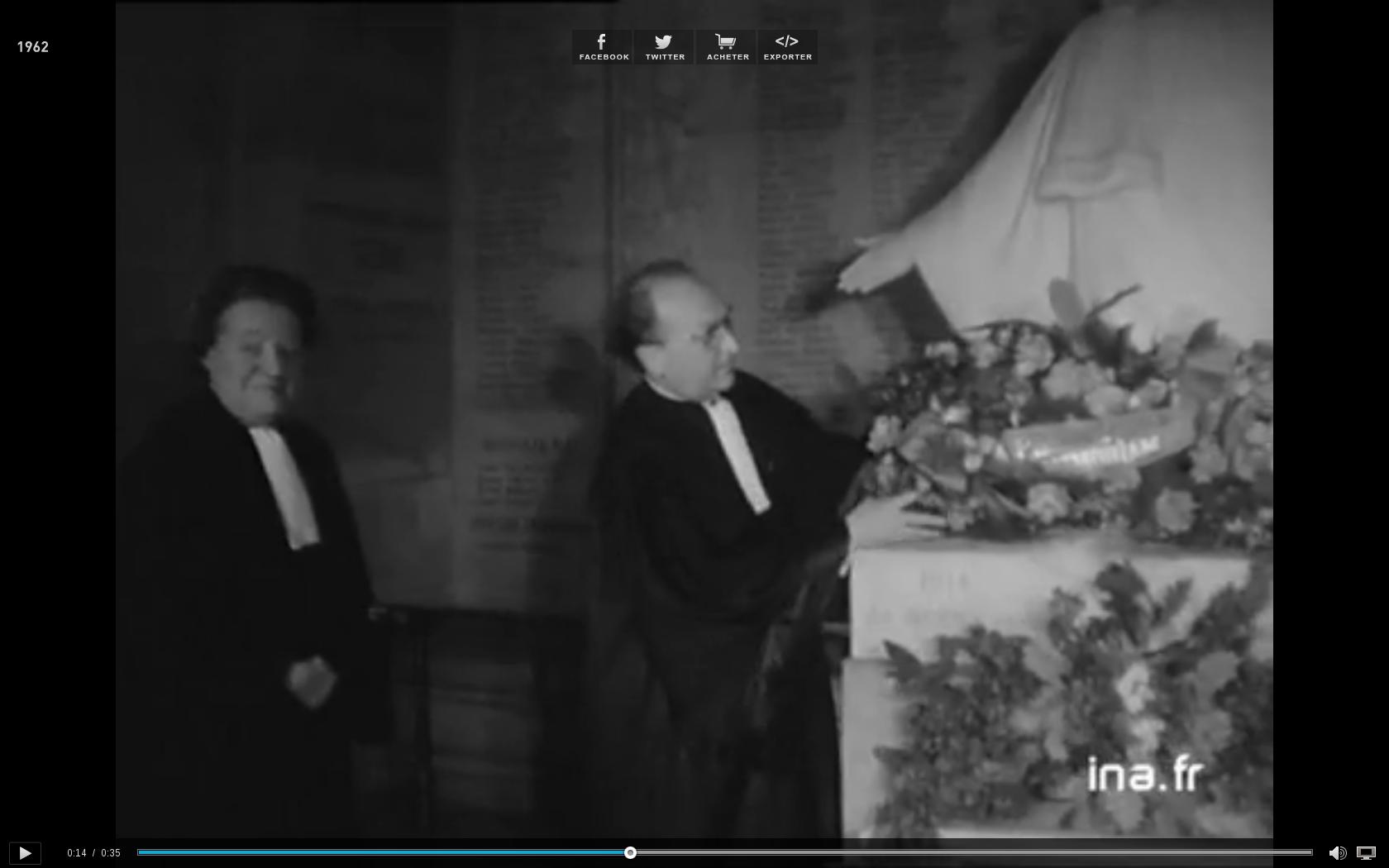 25/01/1962: omaggio dei colleghi a Maìtre Popie