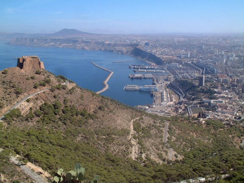 Orano. Vista dalla fortezza spagnola di Santa Cruz