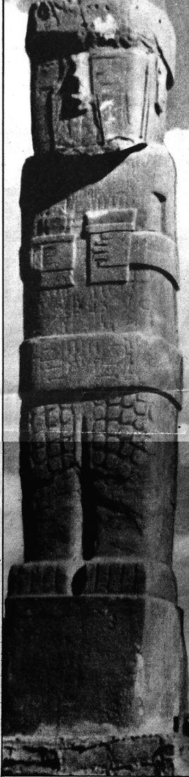 La statua di un gigante scolpita in un blocco monolitico scoperta sulle Ande presso il lago Titicaca