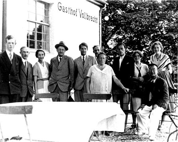 Emmy Noether con Hermann Weyl, Emil Artin e altri matematici, 1930