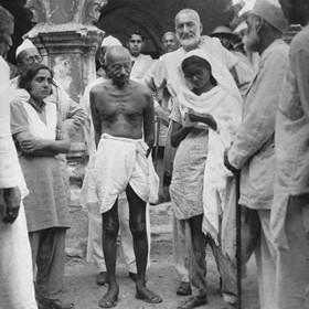 badshash Khan con Ghandi a Bijar