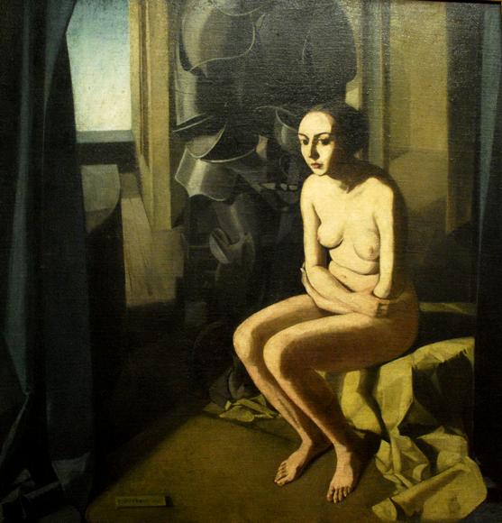 """""""La donna e l'armatura"""", Felice Casorati 1921"""