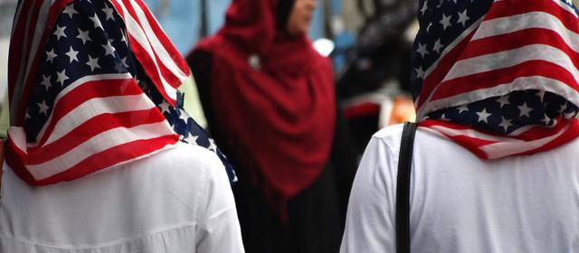 velo islamico bandiera USA