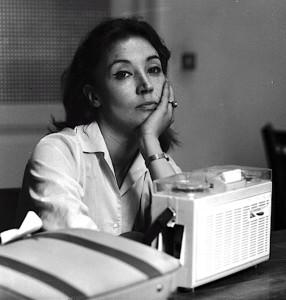 05 Jul 1963, ROME, Italy --- Oriana Fallaci  --- Image by © ANSA/Corbis