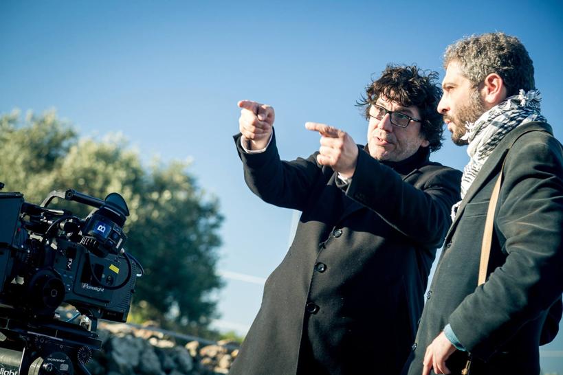 Daniele Ciprì con Emiliano Barbucci durante le riprese - Cortesia E. Barbucci