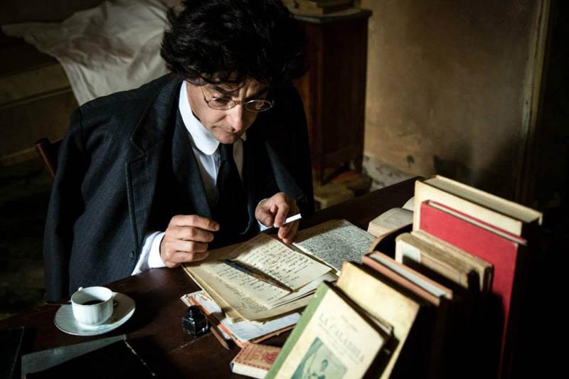 Peppino Mazzotta nel ruolo di Antonio Gramsci, da Gramsci 44 - Foto Mathia Coco