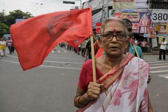 Sciopero generale a Calcutta.