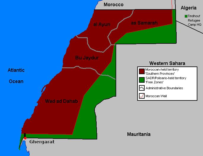mappa Sahara occidentale